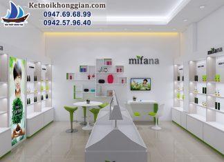Thiết kế shop mỹ phẩm diện tích nhỏ