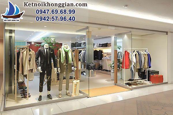 thiết kế cửa hàng quần áo thời trang