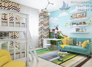 thiết kế phòng ngủ cho bé