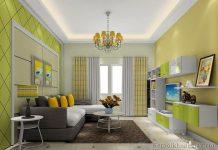 Thiết kế phòng khách chung cư 35m2