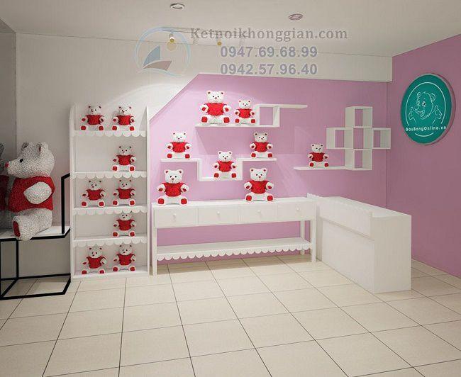 Thiết kế cửa hàng gấu bông