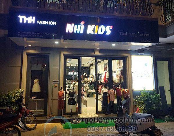 Thi công shop thời trang trẻ em