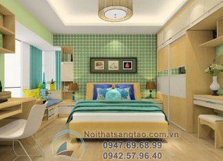 thiết kế phòng ngủ cho người mệnh Mộc
