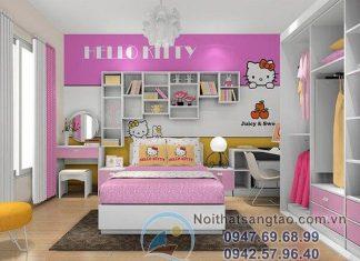 thiết kế phòng ngủ bé gái đẹp
