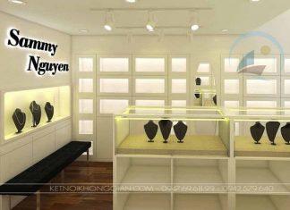 Thiết kế cửa hàng vàng bạc, trang sức