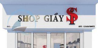 Thiết kế shop giày dép nữ