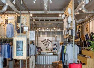 Thiết kế shop thời trang kết hợp quán cafe và cắt tóc