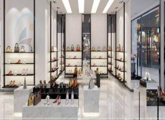 thiết kế cửa hàng giày dép 60m2