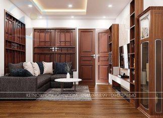 Thiết kế nội thất phòng khách và bếp
