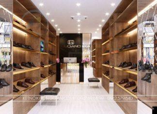 Thiết kế shop giày da