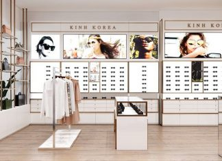 Thiết kế shop kính mắt