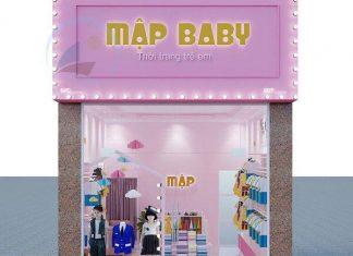 Thiết kế shop quần áo trẻ em diện tích nhỏ
