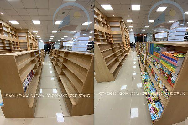 Thi công nội thất nhà sách