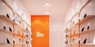 thiết kế shop giày 10m2