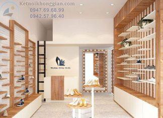 Thiết kế shop giày dép thời trang