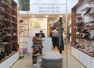 Thi công shop giày dép