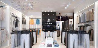 Thiết kế shop thời trang nam 40m2