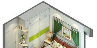 Thiết kế phòng ngủ 15m2 chung cư