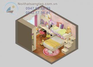 Thiết kế phòng ngủ bé gái