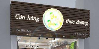 Thiết kế cửa hàng thực dưỡng