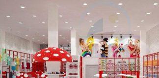 Thiết kế shop thời trang mẹ và bé