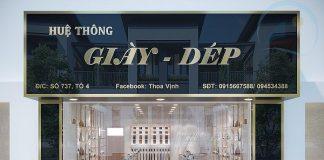 Thiết kế shop giày dép 60m2